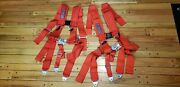 2 Pack Red Slasher 3 5 Point Harness For All Rzr - Does 2 Seats - New