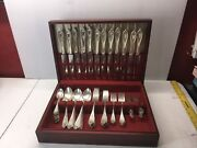 68 Piece Box Knifes Forks Spoons 1846 Flatware 1847 Rogers Bros Xs Triple Plate