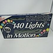 Vintage Christmas Tree Lights 140 Lights In Motion 63 Feet Twinkle/chasing