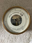 Vintage Tycos Co. Rochester Ny Brass Aneroid Wall Barometer