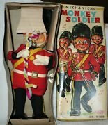 Vintage Toy Sonsco Wind Up Mechanical Monkey Soldier 32/9168