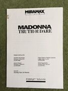 Madonna Truth Or Dare Booklet And 11 Pictures