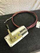 Chrysler Outboard Side Mount Remote Control Box W 8ft Cables Used See Pics M196