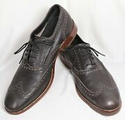 Nearnew_dark Brown Cole Haan Air Colton Soft Leather Wingtips_10 M_style C10028