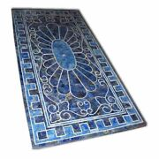 48 Marble Dining Table Top Inlay Rare Lapis Antique Center Coffee Table Ar0100
