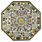 52 Marble Dining Table Top Inlay Rare Stones Antique Center Coffee Table Ar0120