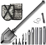 Zune Lotoo Survival Camping Shovel Folding Tactical Gear Military,23 In 1 Multif
