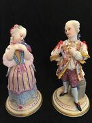 Rare 19th Ct. Antique Jean Gille French Pair 1830 Year Bisque Figurines