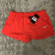 Nike Menand039s Dry Fast 2 In Brief-lined Running Shorts Cj7845-635 Orange Size Large