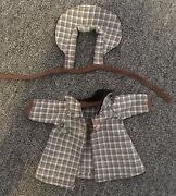 Madam Alexander Vintage 8andrdquo Doll Clothes Coat And Apron Brown Checked 50andrsquos Cute
