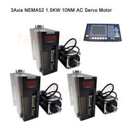3axis 1.5kw 10nm Ac Servo Motor Drive Nema52 1500rpm And Cnc Controller System Kit