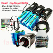 4axis Closed Loop Stepper Motor Nema34 4.5nm Driver +controller+power Supply Kit