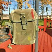 Antique Authentic Vintage 1945 Wwii Military Us Army Pouch Original Period Items