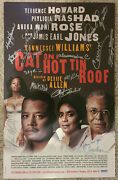 Cat On A Hot Tin Roof Broadway Signed Poster James Earl Jones Phylicia Rashad ++