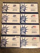 1999 - To 2006 S Proof United States Mint Sets Lot Box And Coa 8 Complete Sets Ogp