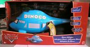 Cars - Disney Pixar Lot - Supercharged Dinoco Helicopter - Barney Stormin - Rare