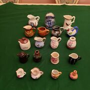 Lot Of 19, Mini / Small Vintage Porcelain Pottery, Vases, Italy, Japan, England