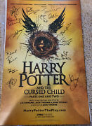 Harry Potter And The Cursed Child Original Broadway Signed Poster Jamie Parker +