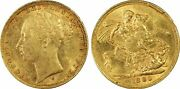 1880s St.george Reverse Sovereign S-3858c Mcd158b Ww Complete In Pcgs Ms61