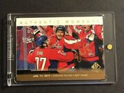 2017-18 Sp Authentic Gold Auto Authentic Moments Group A 118654 Alex Ovechkin