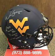 Will Grier Signed West Virginia Mountaineers Authentic Football Helmet Jsa