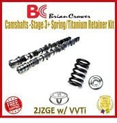 Brian Camshafts Stage 3 + Single Spring + Retainer Kit For Toyota 2jzge W/ Vvti