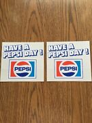 1970s Have A Pepsi Day Window Store Decal Peel Back Decals
