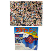 Brand New Sealed Friends 500 Piece Puzzle And Ravensburger Sort And Go Puzzle Sorter