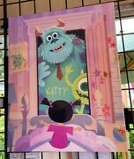 2021 Disney Parks Joey Chou Le Canvas 20x24 Pixar Monster's Inc Sulley Boo Mike