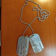 Army Dog Tags, Original, Late 50s, Early 60s