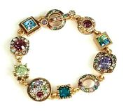 Patricia Locke 7 5 Pantomime Gold Plated Bracelet Water Lily Crystals