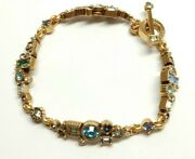 253 Patricia Locke 7 5 Bracelet Wall Street Gold Pacific Crystals