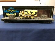 Weaver Custom Army 50' Flat Car W/ Army Truck And Crates 17099 Mth Lionel K-line