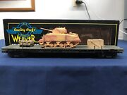 Weaver Custom Army 50' Flat Car W/ Army Tank And Supplies 17071 Mth Lionel K-line