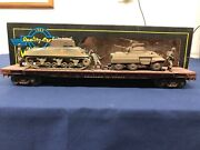 Weaver Custom Army/ttx 50' Flat Car W/ Army Tanks And Figures Mth Lionel K-line