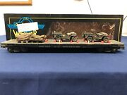 Weaver Custom Army 50' Flat Car W/ Army Cars And Supplies 17191 Mth Lionel K-line