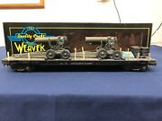 Weaver Custom Army 50' Flat Car W/ Army Cannons And Tires 17070 Mth Lionel K-line