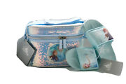 New Disney Store Frozen 2 13.1 Bag Elsa And Anna Lunch Box Tote And Slippers