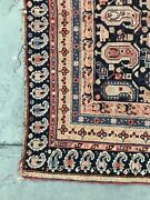 """Pre 1900 Antique Wool Rug. Square Af Shar, 4' X3'5"""" Hand Knotted Wool Tribal"""