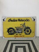 Indian Motorcycles Indian Chief 1974 Tin Sign Yellow