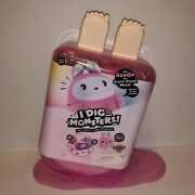 New I Dig...monsters Goodie Giant Plush Monji Pink With Blind Popsicle In Tummy