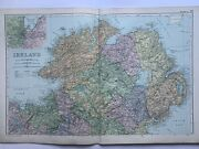 1908 North Ireland With Inset Of Belfast Original Antique Map By G.w. Bacon