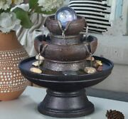 Chinese Creative Fountain Feng Shui Ball Home Desktop Decoration With Led Lights
