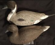 Mating Pair Duck Hunting Decoys Life Size Ducks Fambeau Hunt Decoy String Weight