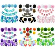 Pretty Birthday Party Decorations Multiple Style Set Supplies For Adult Children