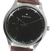 Zenith Elite Ultra-thin 03.2010.681 Black Dial Automatic Menand039s Watch_590132