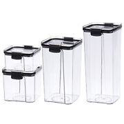20xairtight Pantry And Kitchen Storage Containers 4 Square Plastic Food