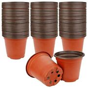 10x130 Packs Of 6-inch Plastic Plant Nursery Pots For Succulents