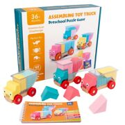 20xwooden Truck Loaded Game Building Block Toys Early Education Parent-child