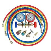 20x5ft 3-way Ac Manifold Gauge Set For Freon Charging Fits